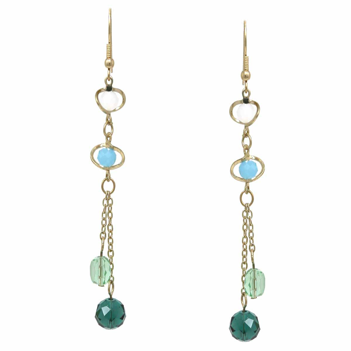 Glass Stone Drop Earrings