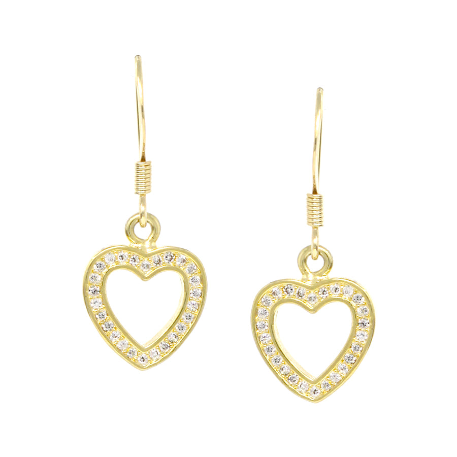 3e1f14abacb19 Cubic Zirconia Pave Heart Drop Earrings