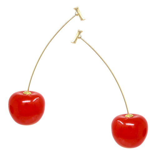 Cherry Long Drop Earrings
