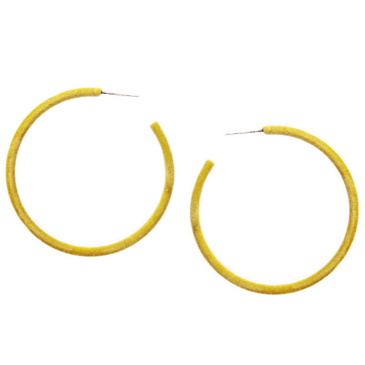 Velvet Fabric Wrapped Skinny Hoop Earrings