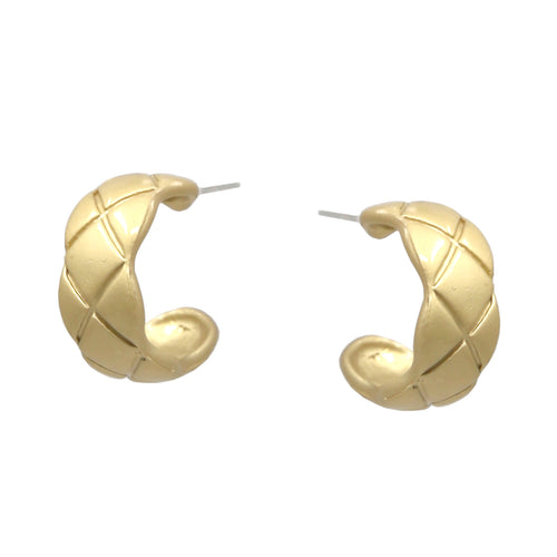 Patterned Mini Hoop Earrings