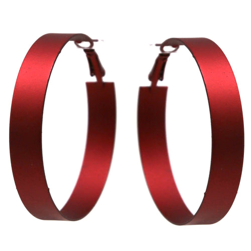 Color Coated Metal Hoop Earrings (60 mm)