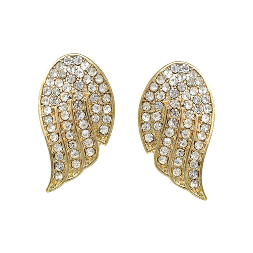 Rhinestone Pave Wing Stud Earrings