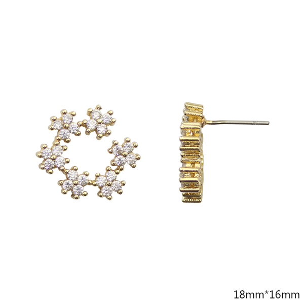 Cubic Zirconia Studs Earrings