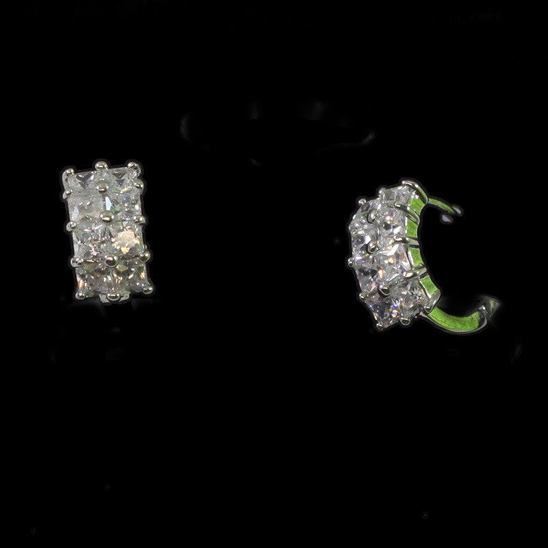Cubic Zirconia Mini Hoop Earrings