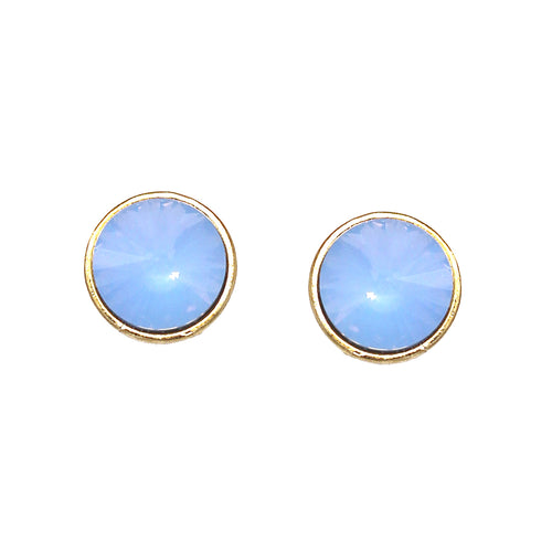 Pointed Glass Stone Stud Earrings