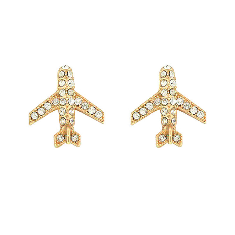Airplane Mini Studs Earrings