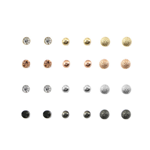 Simple Multi Ear Studs Set