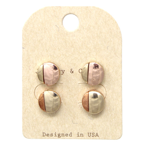 Button Multi Ear Studs Set