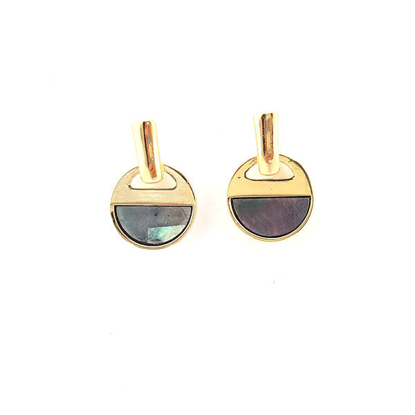 Ocean Inspired Geometric Studs Earrings