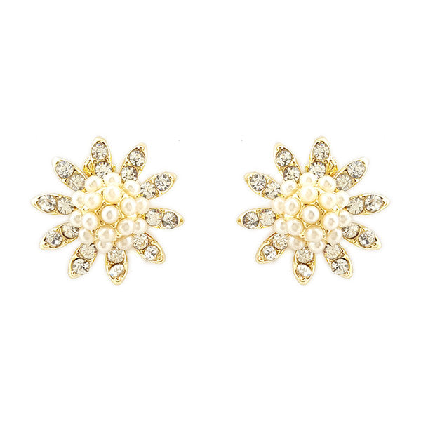 Pearl Flower Studs Earrings