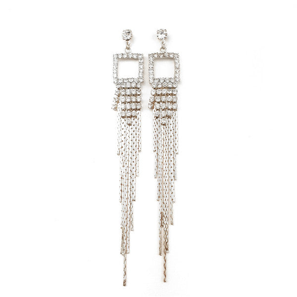 Rhinestone Bridal Drop Earrings