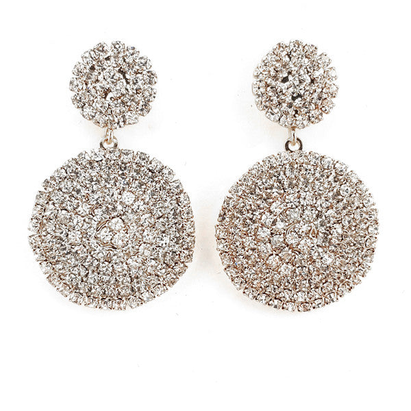 Rhinestone Bridal Dandelion Drop Earrings