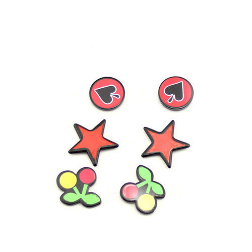 3 Pairs Pop Multi Ear Studs Set