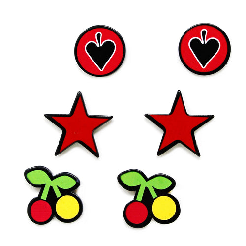 Stars & Cherries Acrylic Mini Pin Set