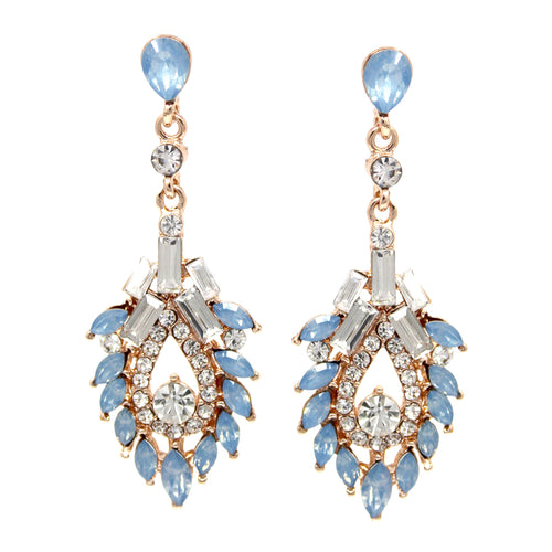 Rhinestone With Marquise Stone cluster Drop Earrings