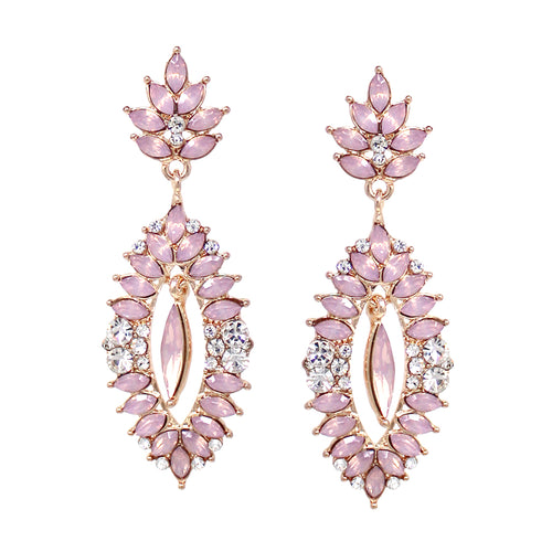 Marquise Stone Cluster Drop Earrings