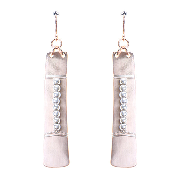 Tribal Metal Bar Earrings