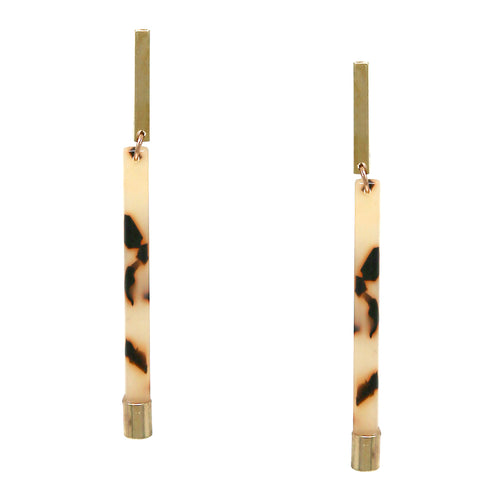 Acetate Bar Drop Eearrings