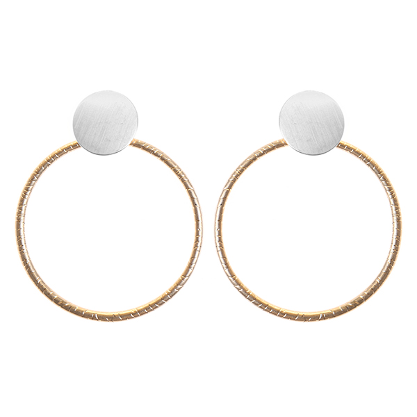 Lightweight Geometric Brass Earrings