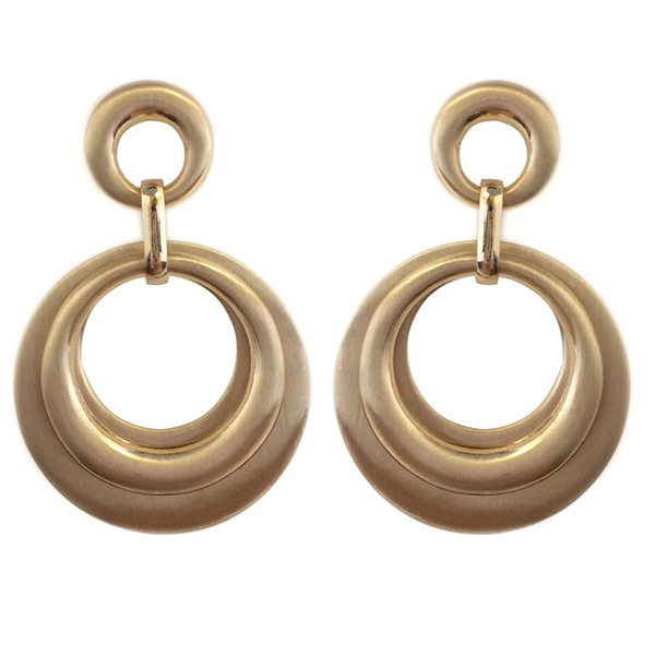 Round Drop Post Earrings