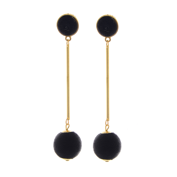 Thread  Round Drop Post Earrings