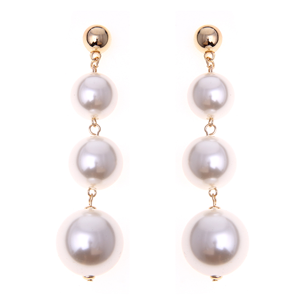 Drop Metal Ball Earrings
