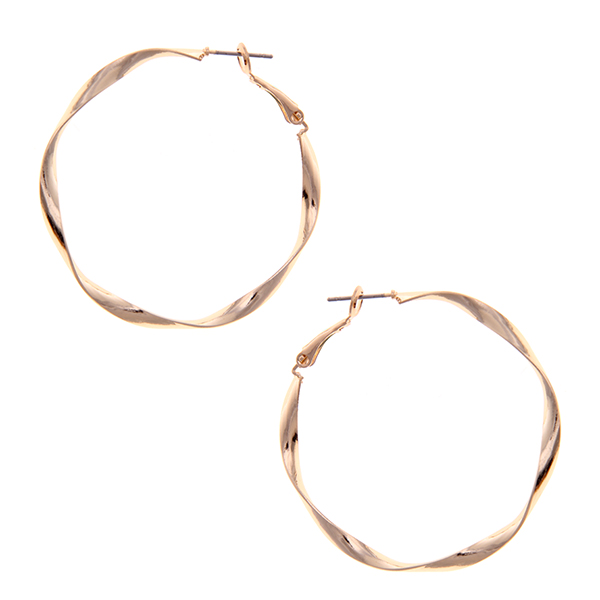 Urban Twisted Metal Hoop Earrings