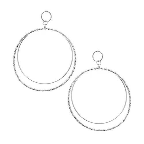 Urban Geometric Metal Hoop Earrings