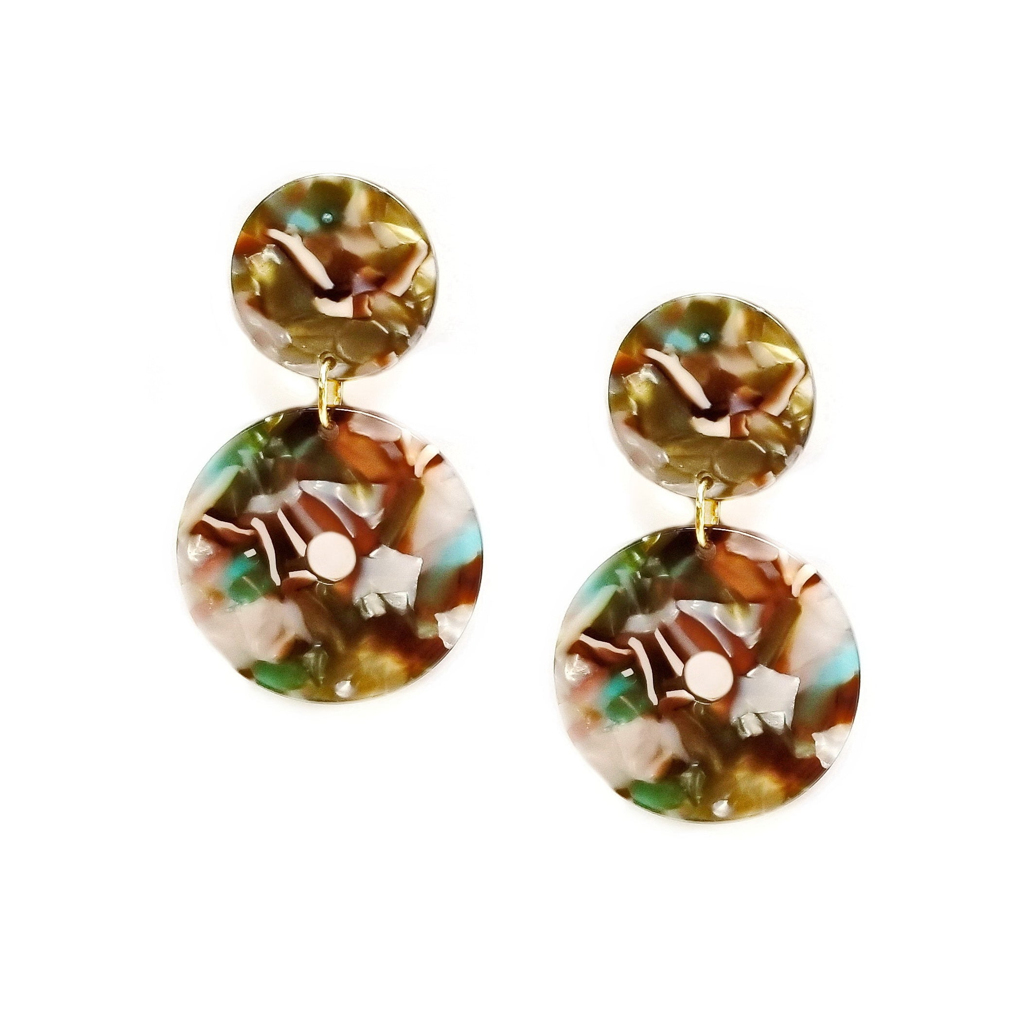 tortoise earrings products crescent image home