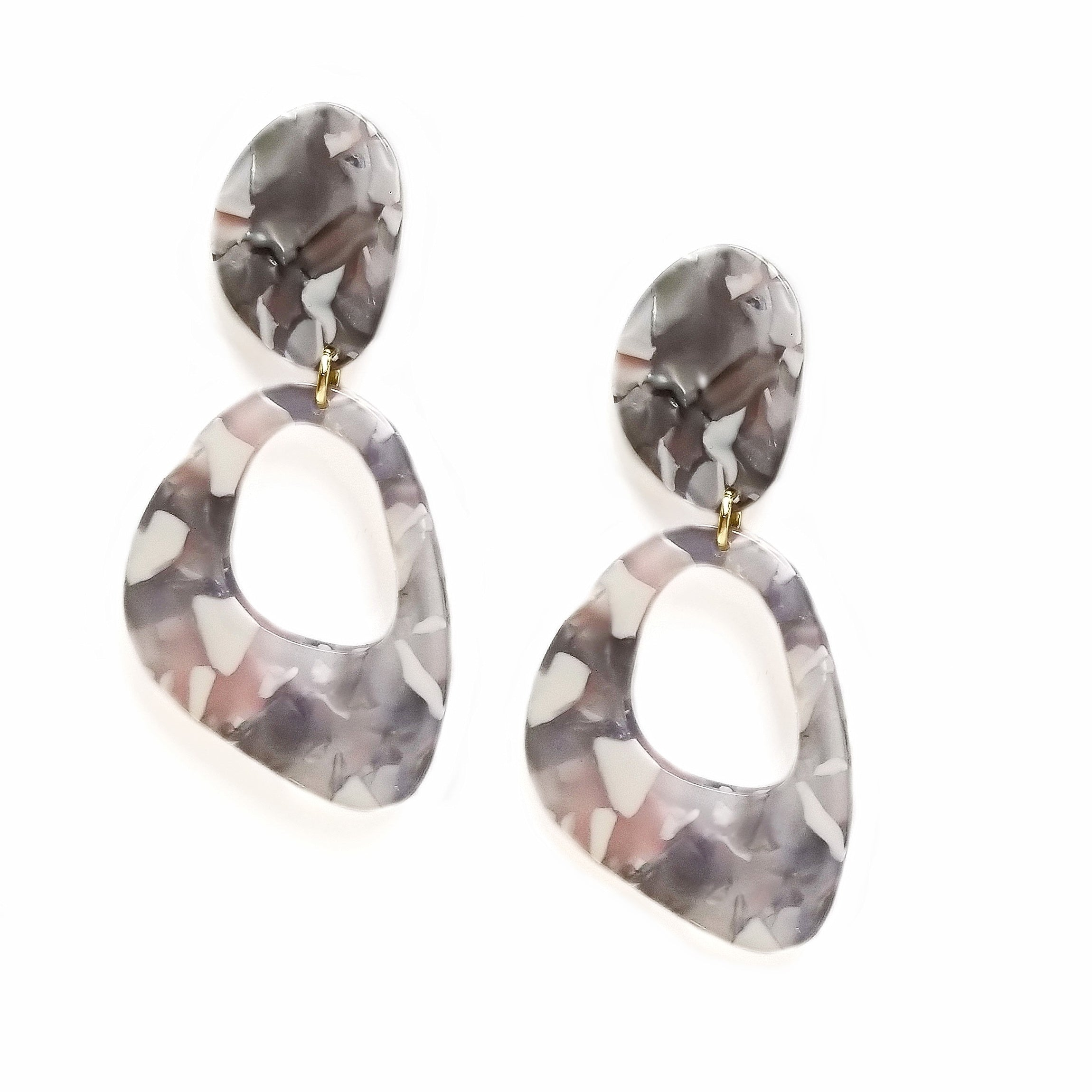 circle size tortoise clare one blonde collections earrings modern citizen