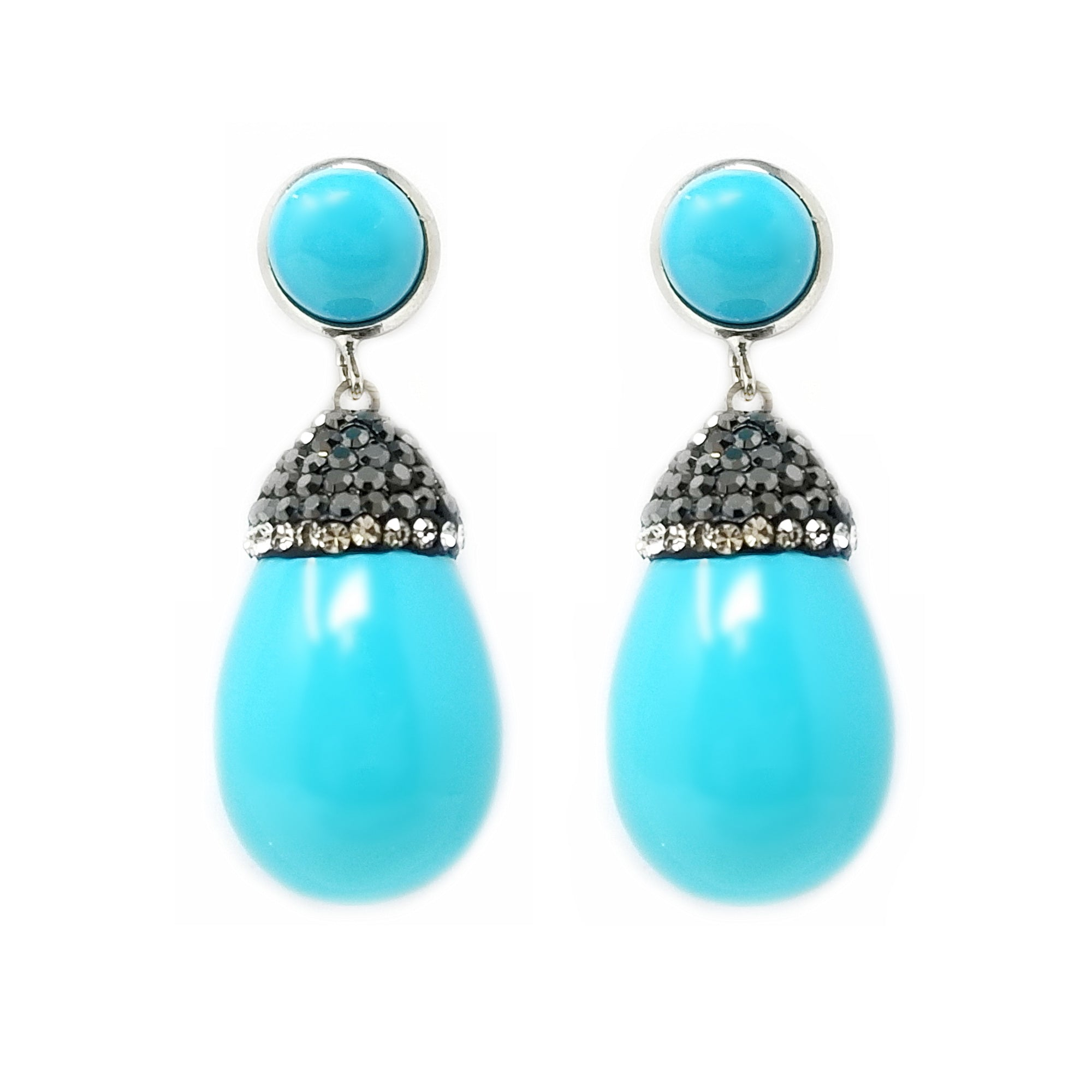 Pearl Prolonged Teardrop Statement Earrings