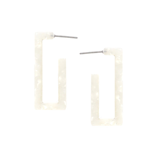 Acetate Geometric Rectangle Hoop Earrings