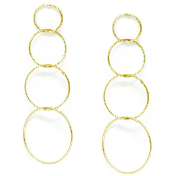 Gradual Hoop Metal Drop Earrings