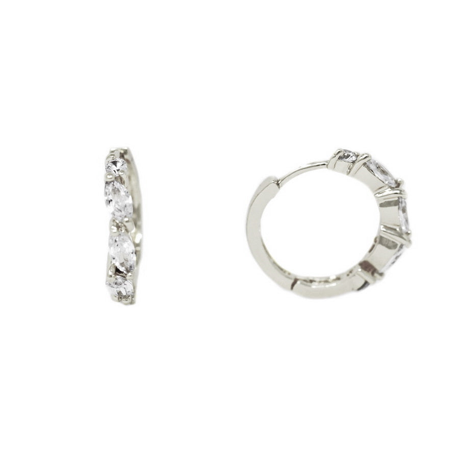 Marquise Cubic Zirconia Hoop Earrings
