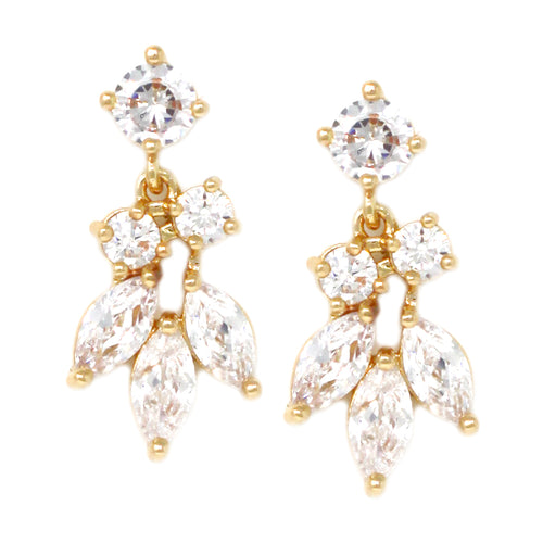 Cubic Zirconia Marquise Cluster Earrings