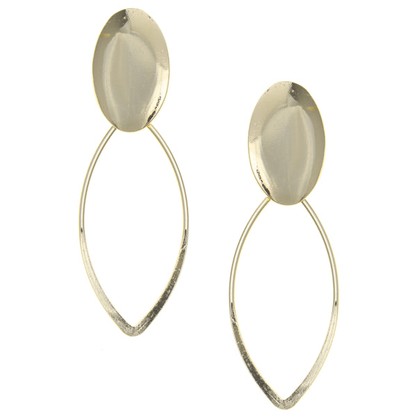 Urban Marquise Shape Metal Drop Earrings