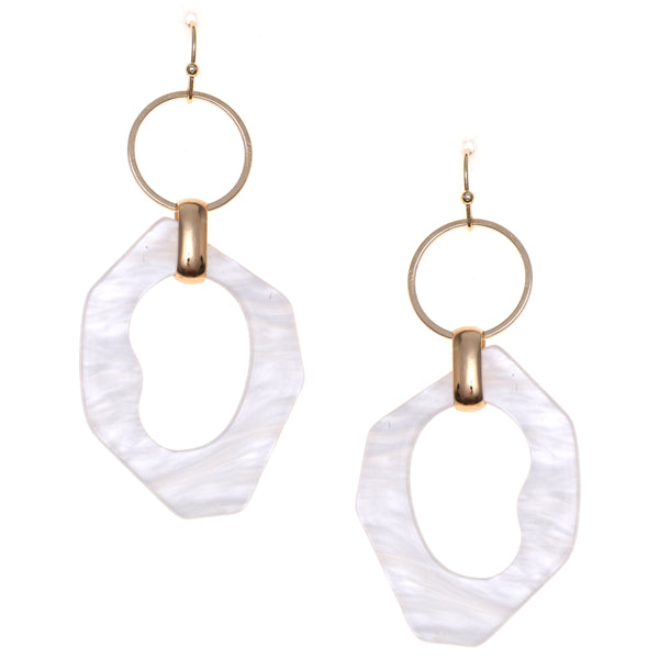 Urban Geometric Tortoise Transformed Hoop Drop Earrings