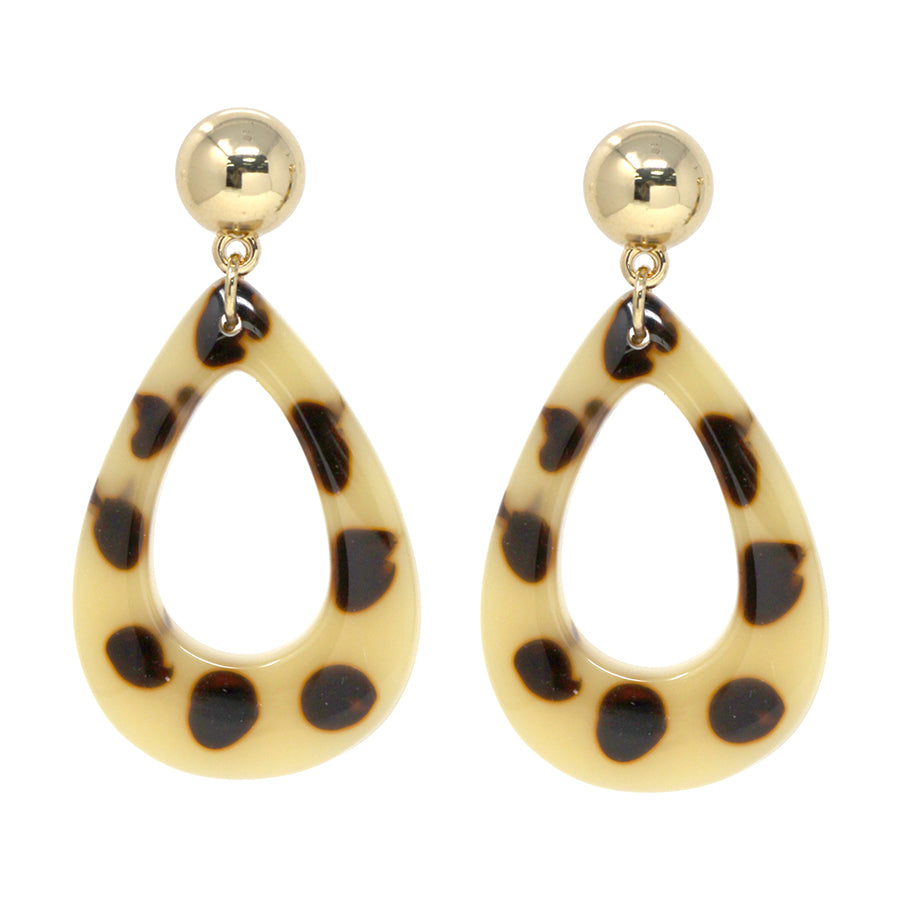 Print Acetate Tear Drop Earrings