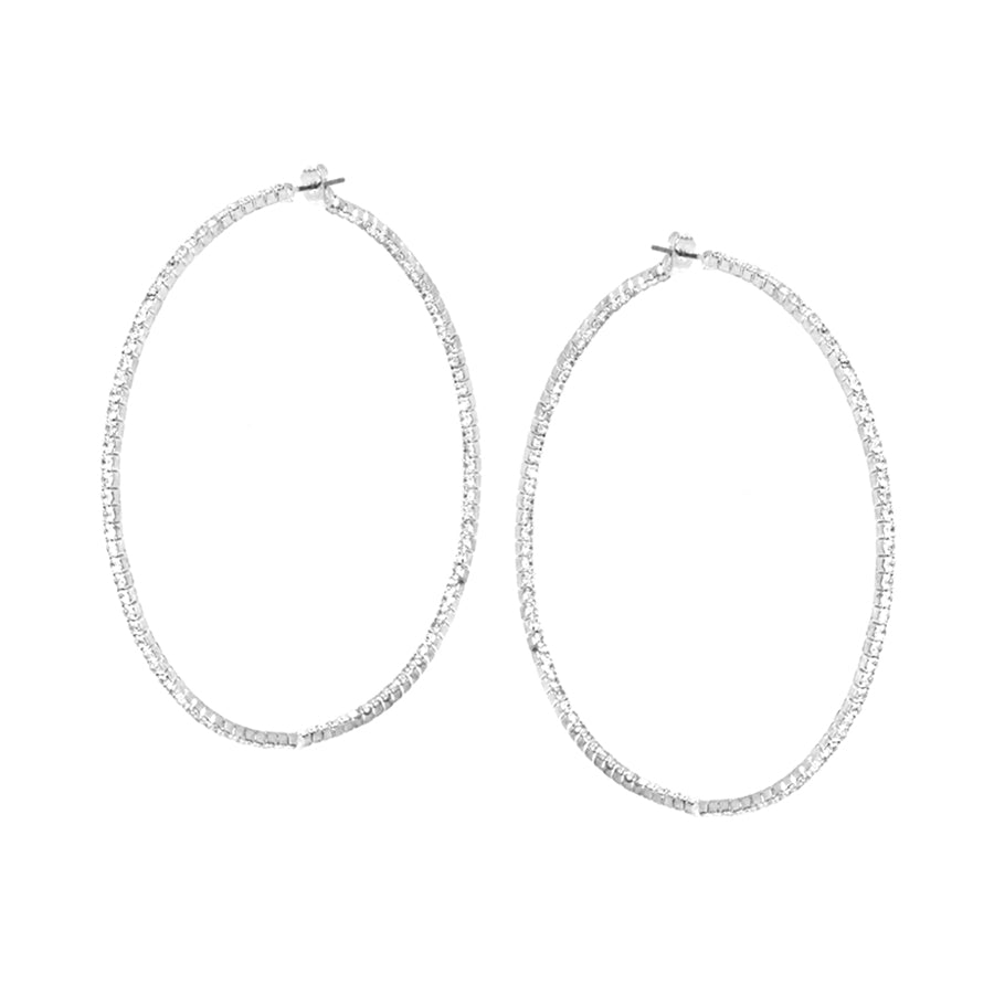 Inside-Out Rhinestone Hoop Earrings (Medium)