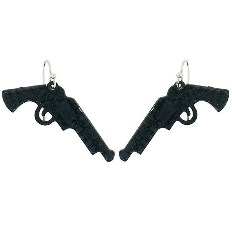 Gun Mini Drop Earrings