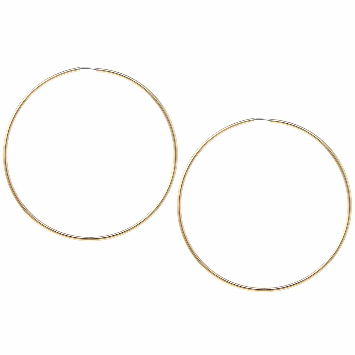 Basic Brass Endless Hoop Earrings (70 mm)