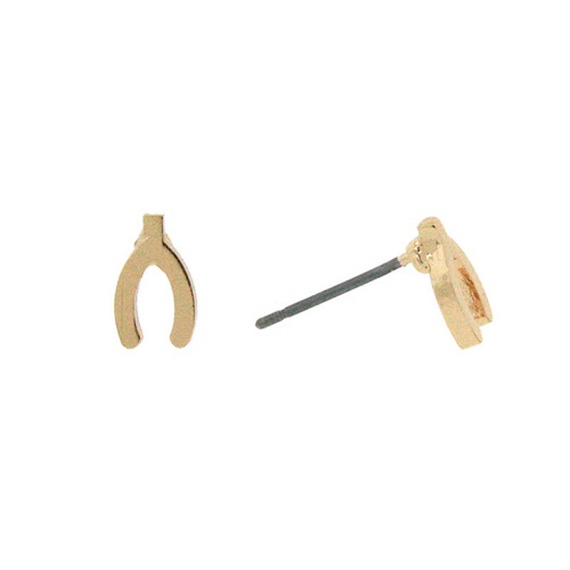 Wishbone Mini Studs Earrings