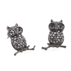 Ruby Owl Earrings