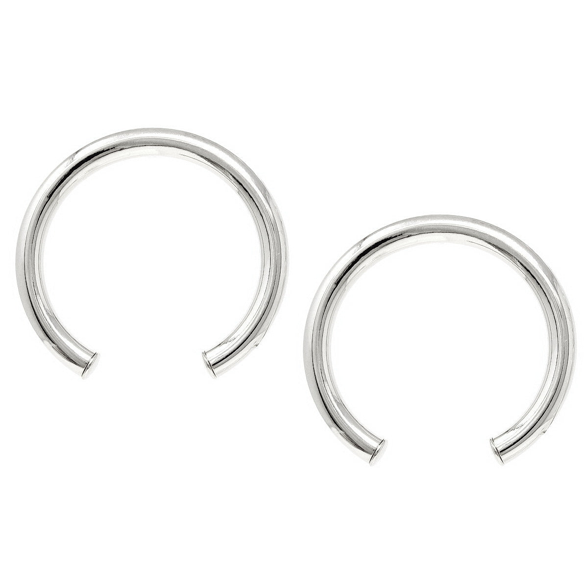 Arched Metal Tube Earrings