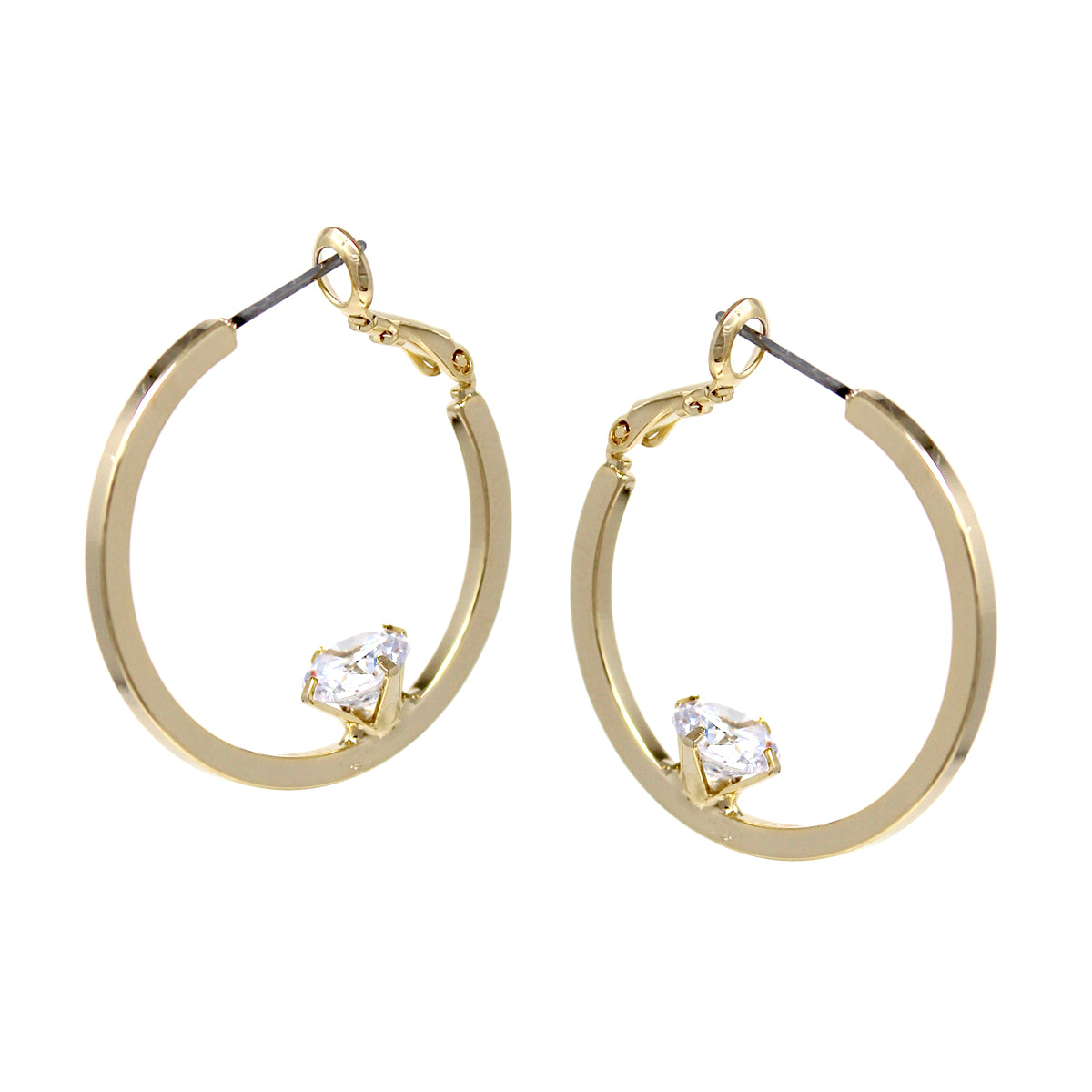 Cubic Zirconia With Hoop Earrings