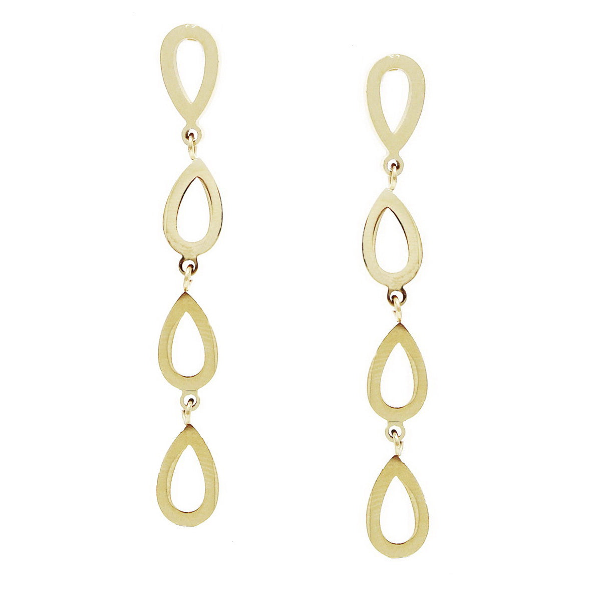 Mini Teardrop Linear Earrings