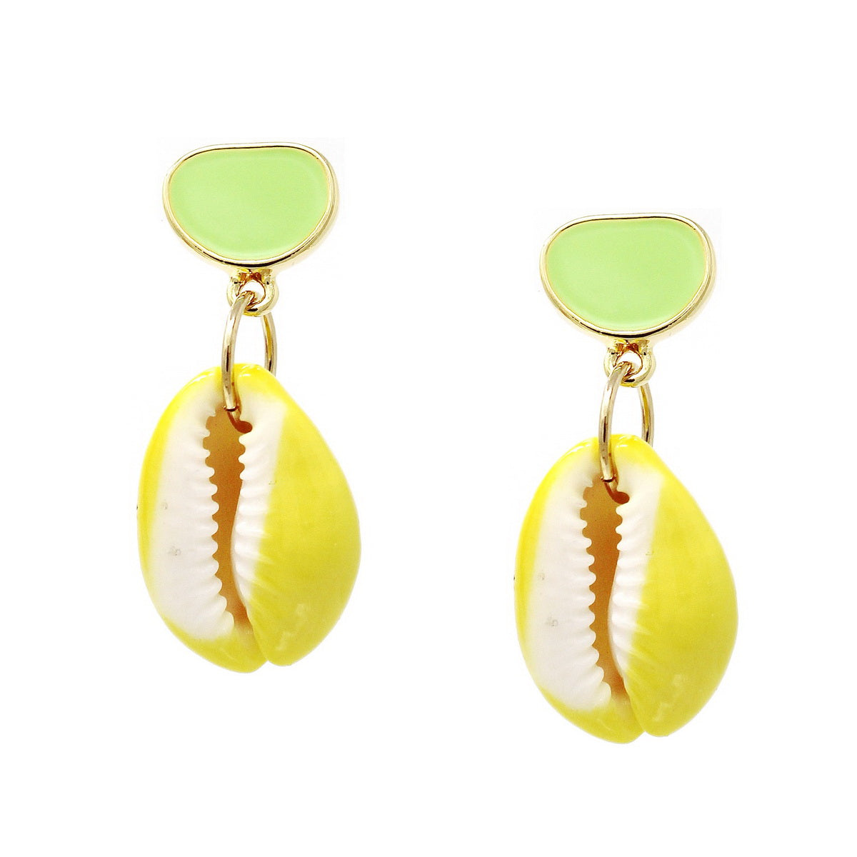 Color Pop Edition: Paint Dipped Puka Shell Drop Earrings