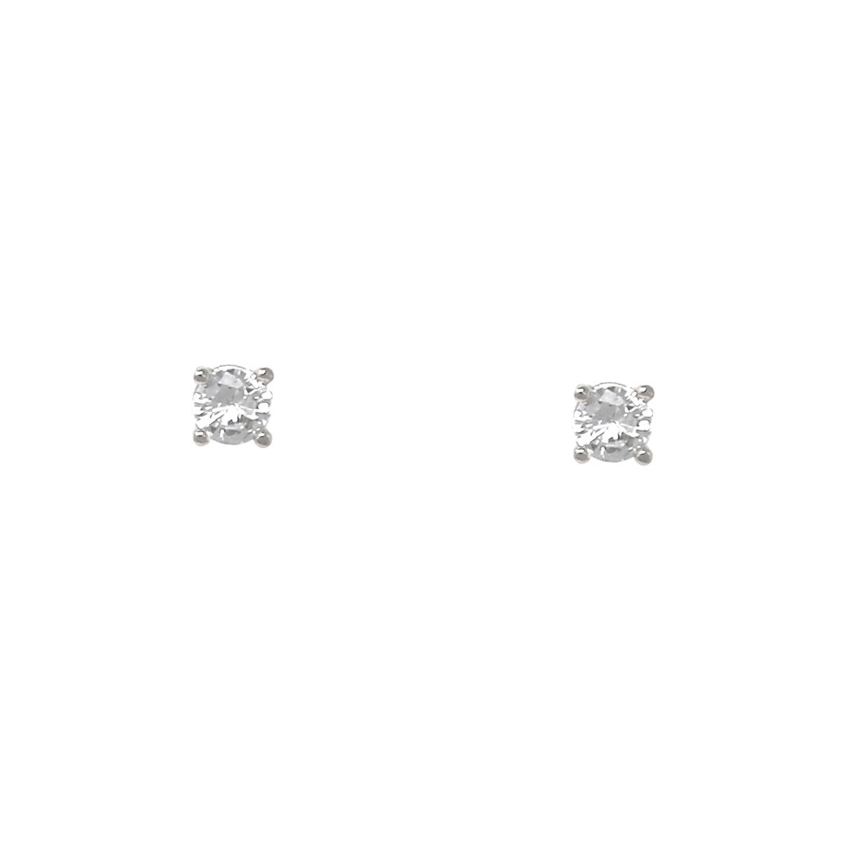 Round Cubic Zirconia Stud Earrings (5 mm)