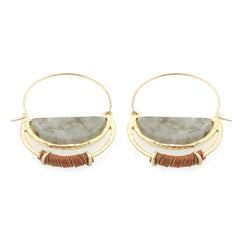 Genuine Stone Pin Catch Earrings
